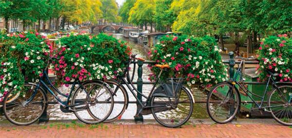 Bicis en Canales de Ámsterdam