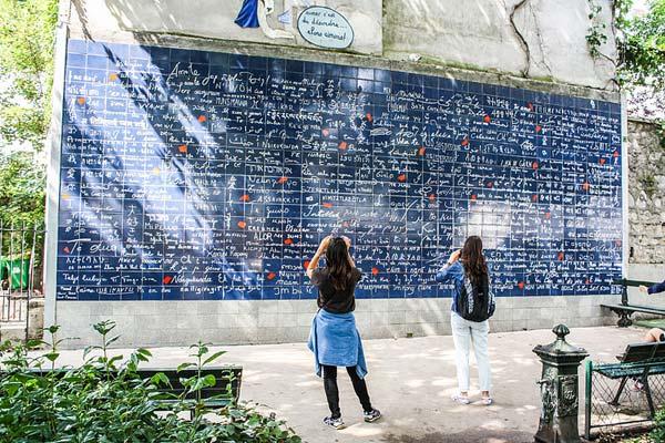 El muro del Amor en París
