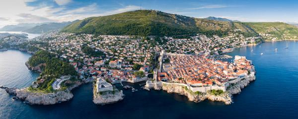Foto aerea de Dubrovnik