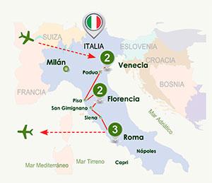 Itinerario de Italia