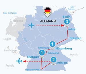 Itinerario Circuito Alemania