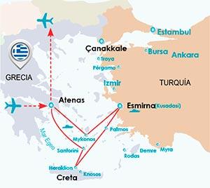 Itinerario Atenas e Islas Griegas