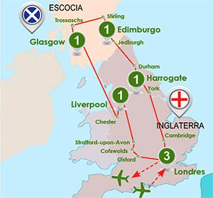 itinerario Inglaterra Escocia